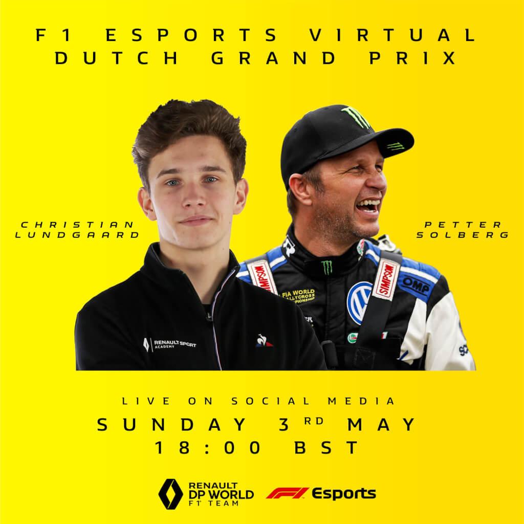 Triple world champion Solberg lands Renault F1 ride for Virtual Dutch Grand Prix