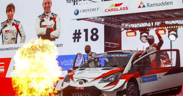 Katsuta impresses with his speed in the Toyota Yaris WRC