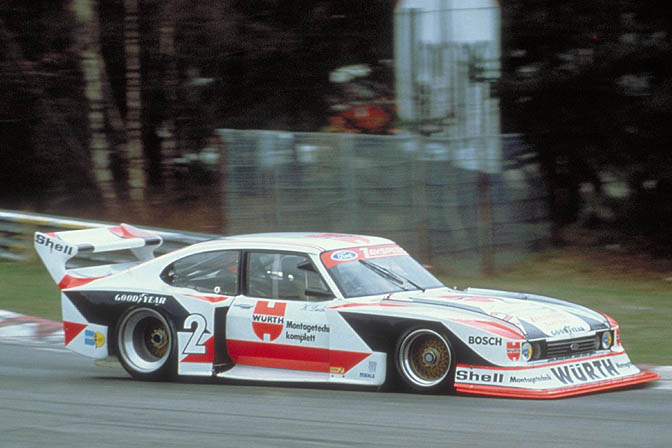 Nurburgring, Nurburgring, Germany, 1981. Klaus Ludwig in his Zakspeed Capri Ford. CD#0776-3301-3813-76