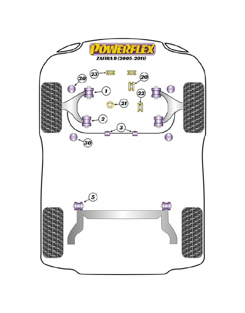 POWERFLEX FOR VAUXHALL / OPEL ZAFIRA MODELS , ZAFIRA B