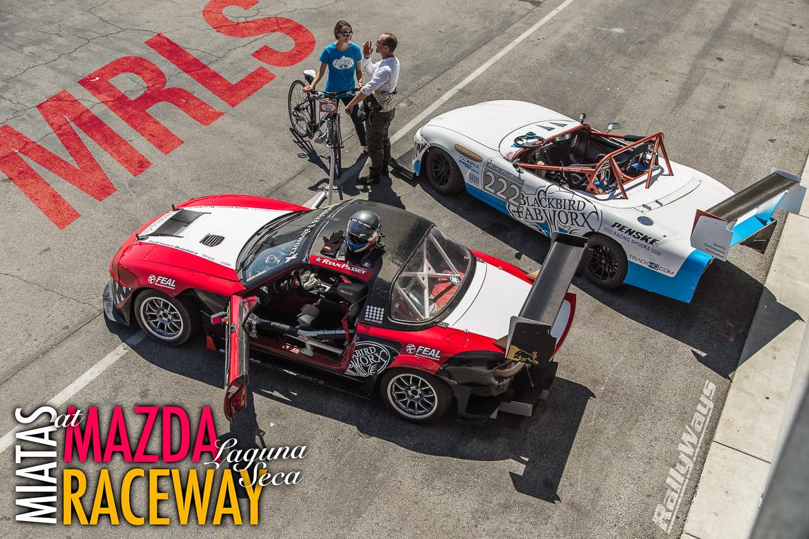 Miatas at Mazda Raceway Laguna Seca
