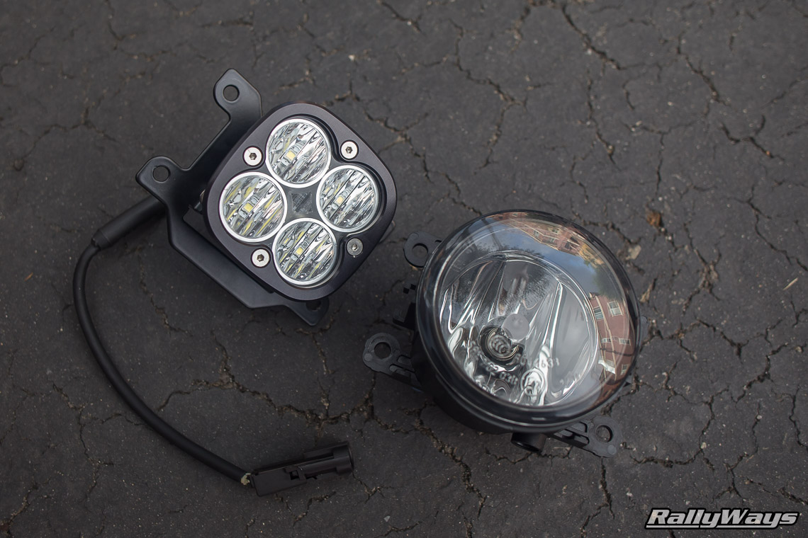 hight resolution of fiesta st stock fog light vs baja designs squadron pro