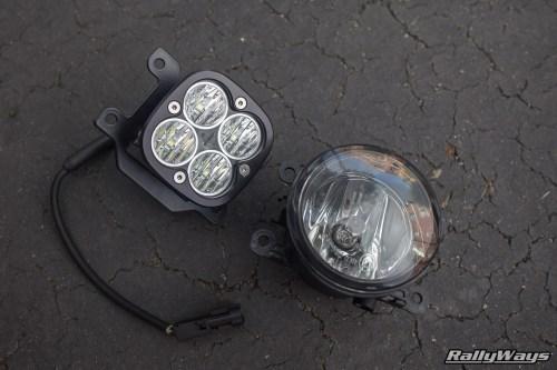 small resolution of fiesta st stock fog light vs baja designs squadron pro