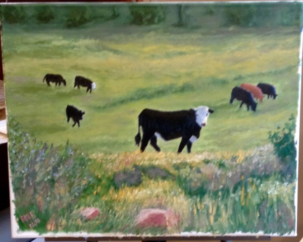 24- Cattle In Green Pasture Oil Paintings Ralph Bennett