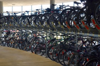 Bike parking at Freiburg's main train station