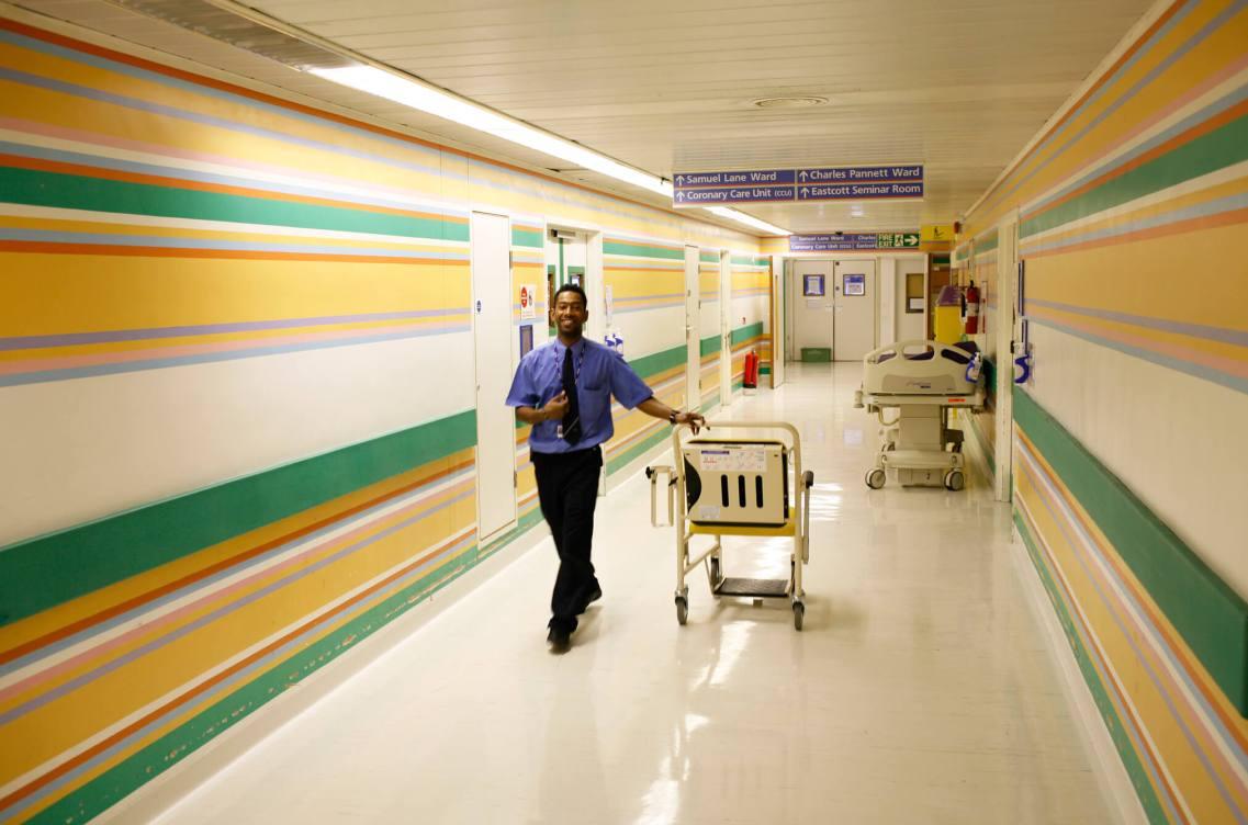 Porter, St. Mary's Hospital.