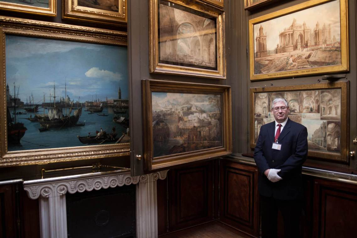 Gallery Attendant, Sir John Soane's Museum, London.