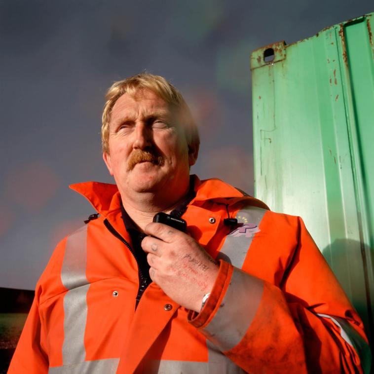 Freight Yard worker, Glasgow.