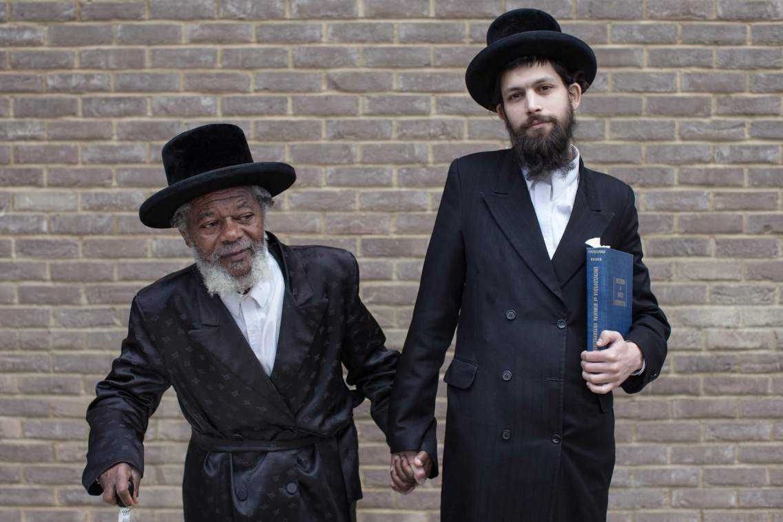 Portrait of Two Rabbis, Stamford Hill, London.