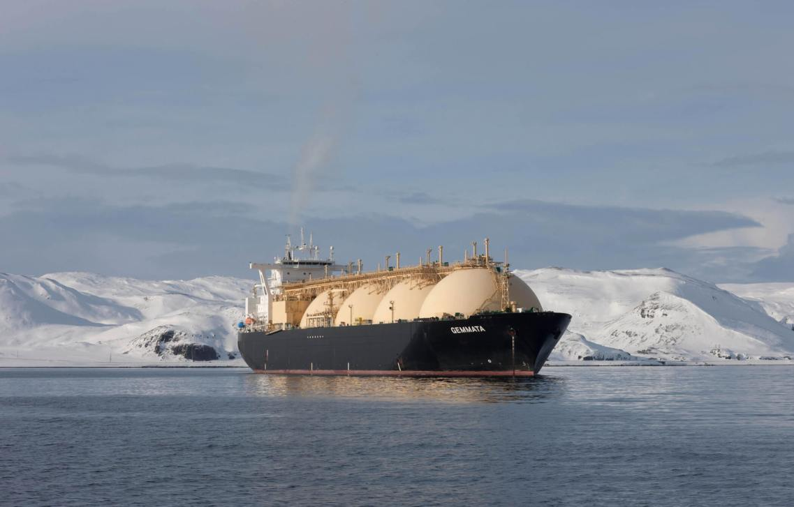 LNG Gemmatta, North Cape, Norway.