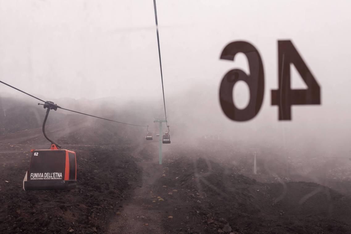 Cable Car 46, Mt Etna, Sicily.