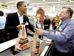 paper or plastic - Obama says plastic
