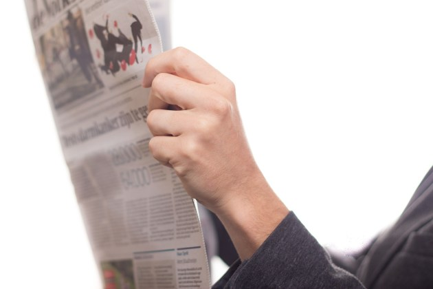 newspaper, news, read
