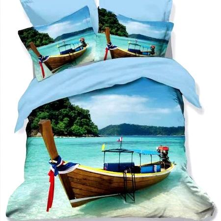 Lenjerie de pat Finet 3D 6 piese, barca