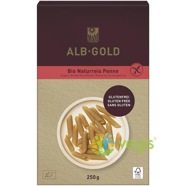 Penne din Orez Brun fara Gluten Ecologice/ Bio 250g ALB GOLD