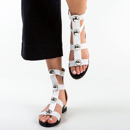 Sandale gladiator Aregas Albe