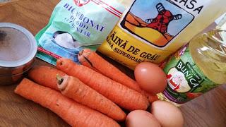 Ingrediente Muffins cu morcovi