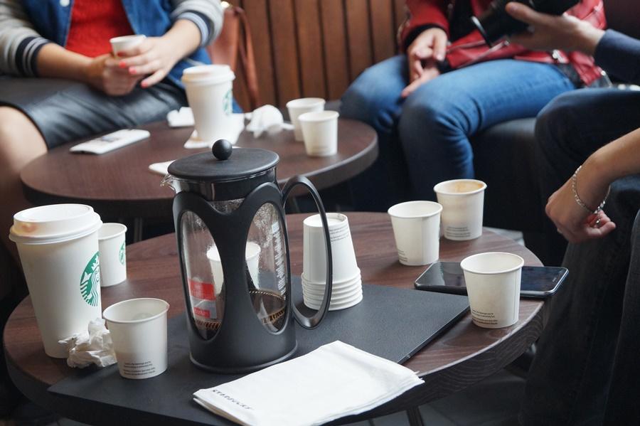 Degustare de cafea Starbucks