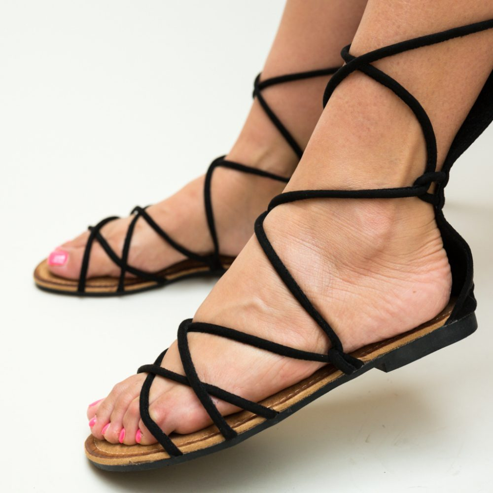 Sandale gladiator Rigby Negre