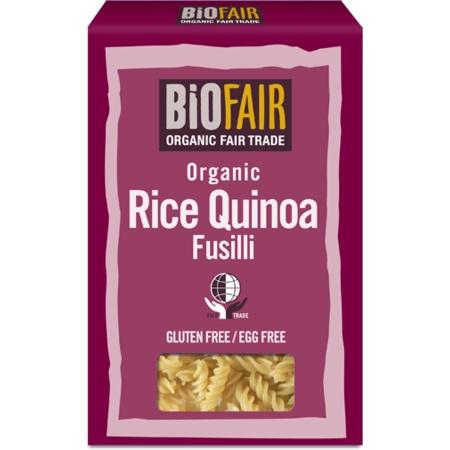 Fusilli din orez si quinoa fara gluten eco Biofair 250 grame