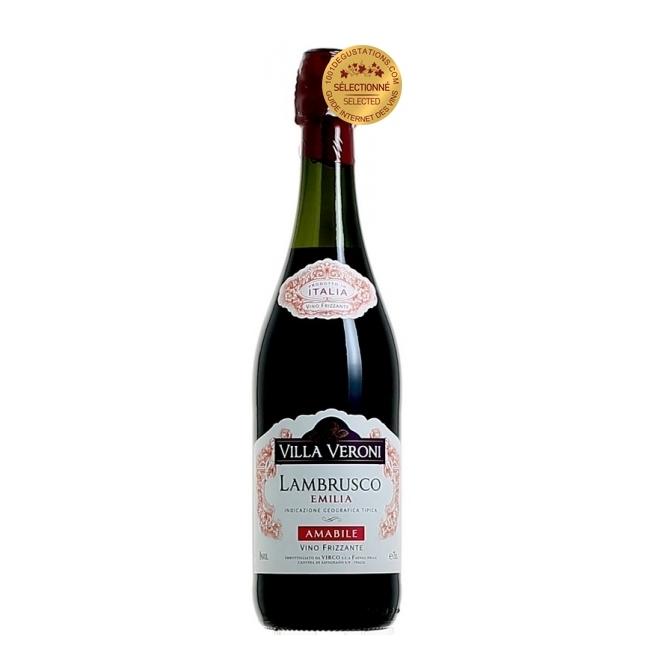 Vin frizzante Lambrusco, Villa Veroni Amabile Emilia, 0.75L, 8% alc., Italia