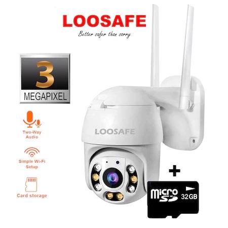 Camera de supraveghere WIFI Loosafe® 20HS Pro, 3MP, de exterior sau interior