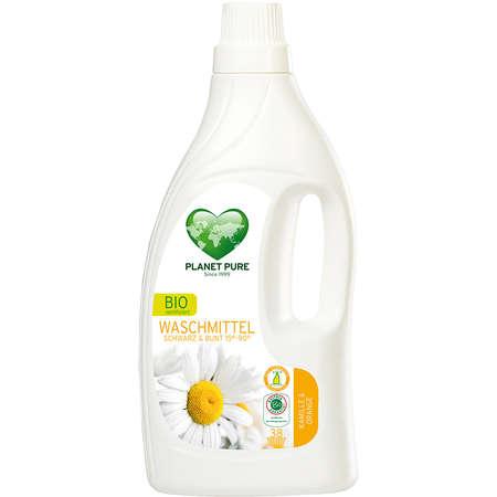 Detergent Bio de Rufe Negre si Colorate - Musetel si Portocale Planet Pure 1.55 litri