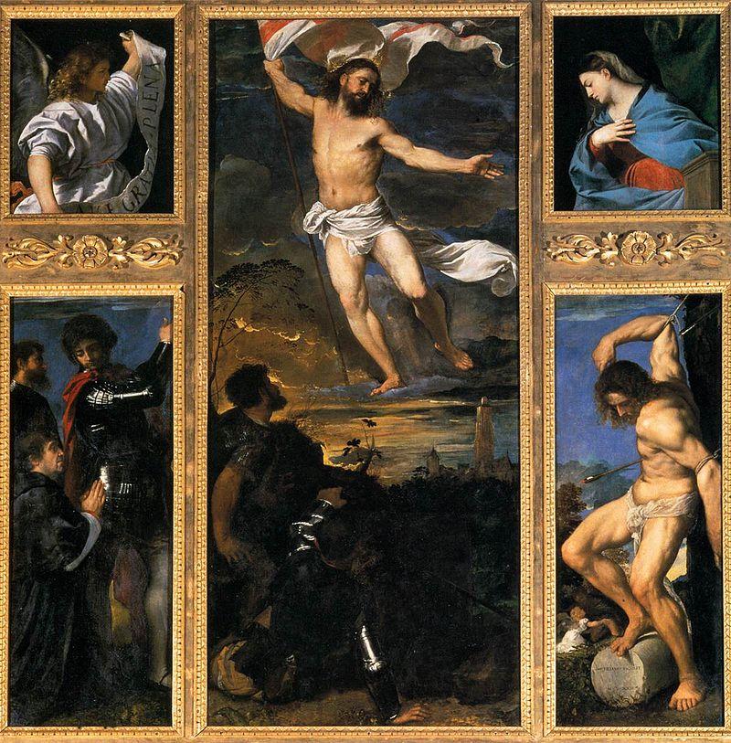 Tiziano Vecellio-  Invierea - Polipticul Averoldi, 1520-1522