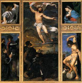 Invierea lui Hristos - Tizian Poliptic