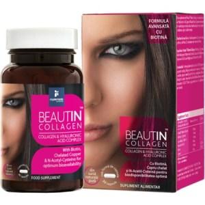 Beautin Colagen cu Acid Hialuronic si Biotina my elements 30 capsule