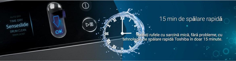 15 minute spalare rapida masina de spalat rufe antibacteriana