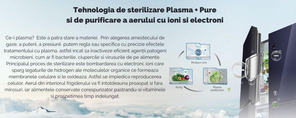 Tehnologia de sterilizare cu plasma si de purificare a aerului cu ioni si electroni Plasma + Pure