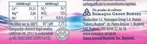 eticheta apa plata aquatique