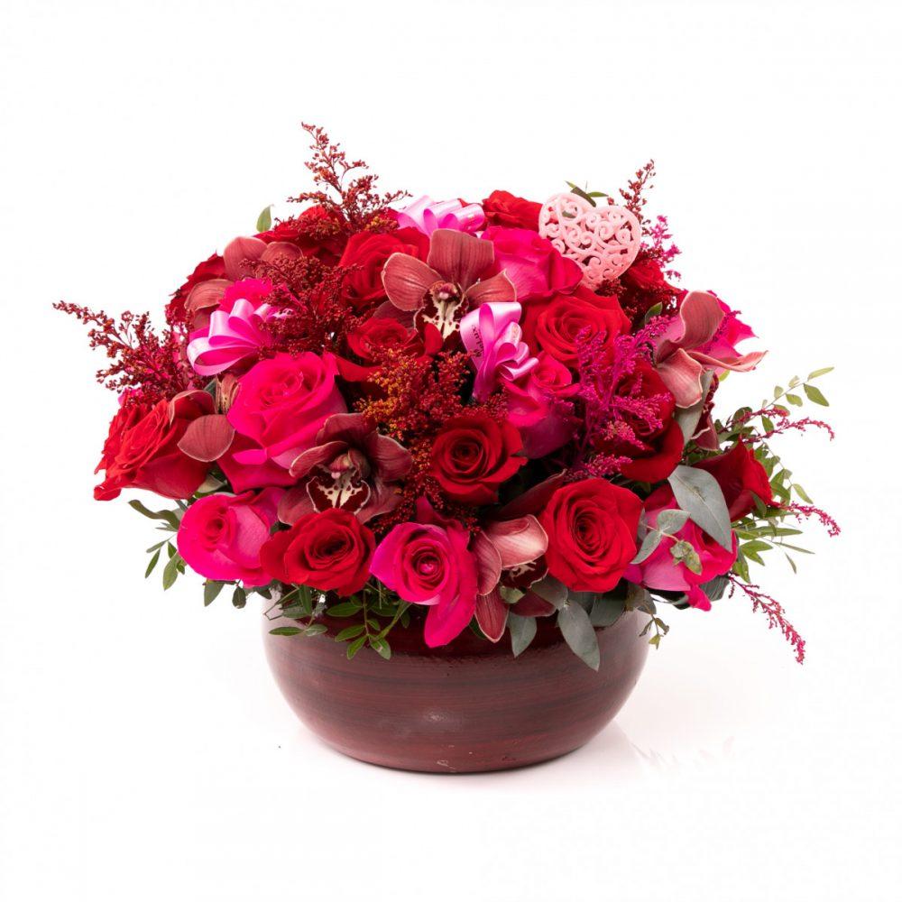 Aranjament floral glossy