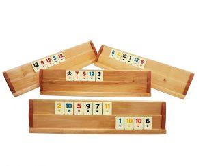 5 Cadouri pentru cea mai buna prietena, cadouri de vara Joc Rummy din lemn masiv si piese din plastic de buna calitate (Remi)