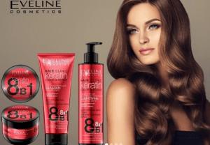 5 cadouri pentru cea mai buna prietena, cadouri de vara Pachet profesional pentru ingrijirea parului vopsit Eveline Hair Clinic Colour Protection 8in1