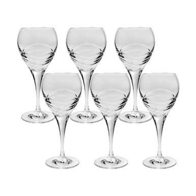 Rafinare la masa- cristaluri Boemia. 5 tipuri de pahare de cristal Set 6 Pahare Vin Alb Fiona, Cristal Bohemia, 270 ml