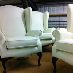 Leather Wing Chairs Uk Vanity Table And Chair In White Ralvern Upholstery