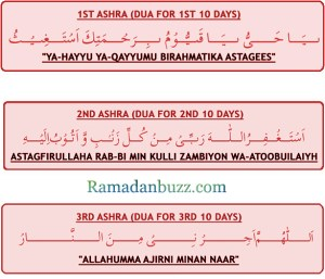 Duas for three Ashras