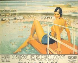 poster advertising New Brighton, 1930