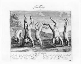 tumbling, from Jacques Stella's Les jeux et plaisirs de l'enfance, 1657