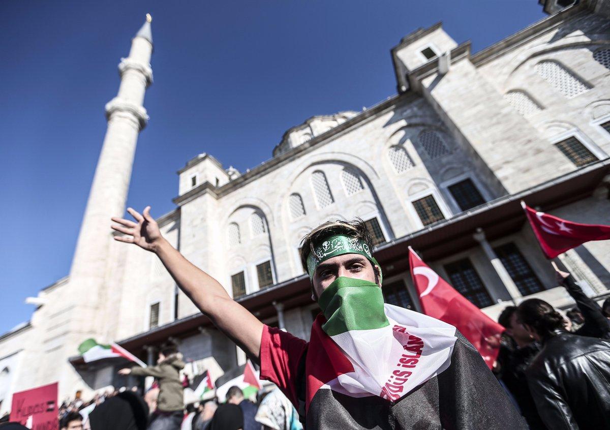 مظاهرات في تركيا انتصارا للقدس