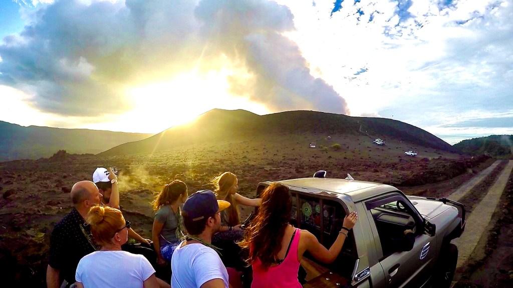4x4 llegando al volcán