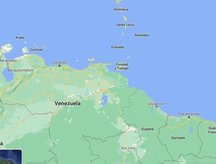 Mapa Trinidad & Tobago