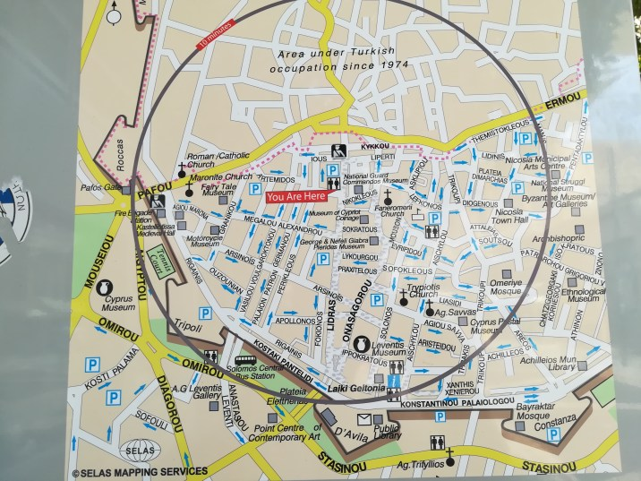 Mapa de Nicosia