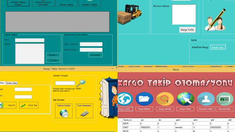 CARGO SHIPPING MANAGEMENT SYSTEM in c# and Visual Basic