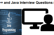 C++ and Java Interview Questions #1