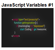 JavaScript Variables #1
