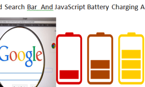 Animated Search Bar and JavaScript Battery Charging Animation By Scalipsum