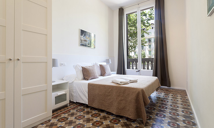 apartments in Barcelona double bedroom3